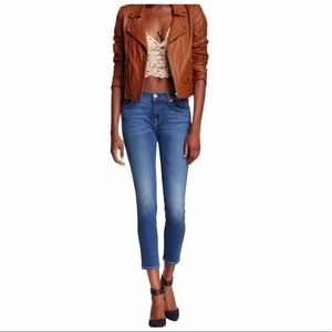 7 for All Mankind Cropped Gwenevere Blue Wash